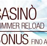 Su Sisal Casino è tempo di Bonus Reload!