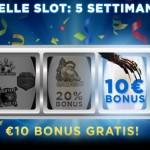 Prova le slot machine di 888 con 10 euro di Bonus