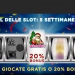 888 Casino offre 20 giocate gratuite e 20% Bonus per Natale