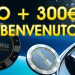 Con Paypal 5 Euro Bonus Omaggio su William Hill Casino