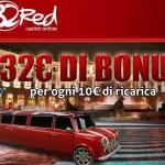 32Red Casino offre 32 euro di Bonus ogni 10€ di deposito